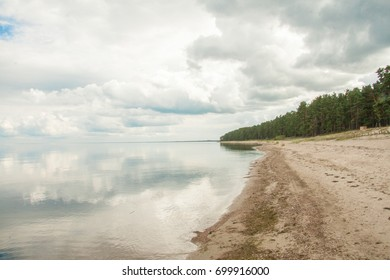 Baltic sea near to Engure village in Latvia
