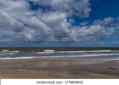 Baltic sea near Rozewie in Poland