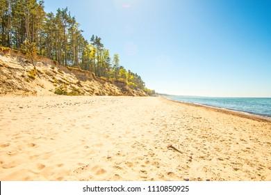 Baltic Sea in Poland, beach of Orzechowo, Poland
