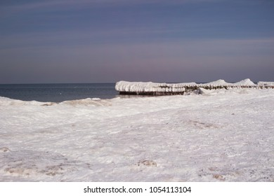 the baltic sea seacoast winter and ice