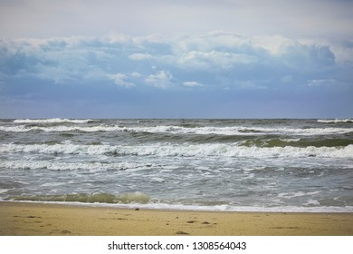 Baltic Sea seen from the beach in Miedzyzdroje