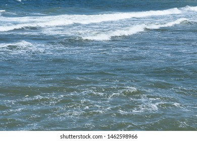 the Baltic Sea, the sea is stormy