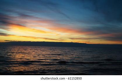 Baltic sea sunset, Jurmala beach