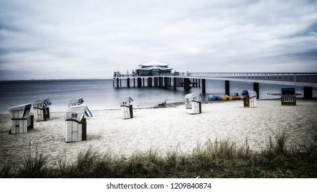 baltic sea,bridge in tmmendorder strand in the early morning