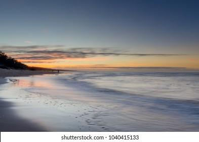 Baltic seashore in Miedzyzdroje (ger.: Misdroy), West Pomeranian Voivodeship. Poland. Europe.