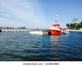 Baltijsk, Kaliningrad region/ Russia - 07.20.2017: Vessel