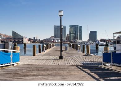 Baltimore Harbor Pier View
