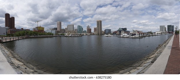 Baltimore Inner Harbor panoramic
