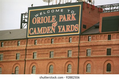 BALTIMORE - JULY 22: Warehouse at Oriole Park at Camden Yards on July 22, 2003. The Orioles home opened in 1992 at a cost of $110 million. It seats 45,480 fans.