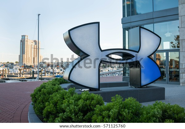 BALTIMORE, MARYLAND - JUNE 12, 2016: Under Armour Store in Baltimore Harbor East