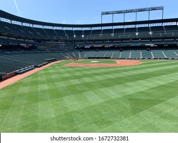 Baltimore, Maryland / United States, April 6, 2019 - Orioles Park at Camden Yards Home of the Baltimore Orioles