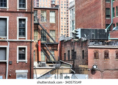 Baltimore, Maryland in the United States. Old brick architecture.