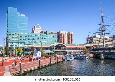 Baltimore, Maryland, USA - November 7, 2011; Baltimore downtown buildings during sunny day