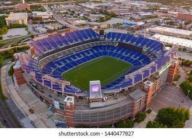 BALTIMORE, MD, USA - JUNE 22, 2019: M&T Bank Stadium Baltimore MD