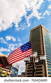 Baltimore, USA - 24 August 2014: World Trade Center Building in Baltimore