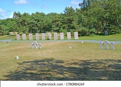 Baltiysk, Russia - July 12, 2020: International memorial burial ground of World War II.  Kaliningrad region