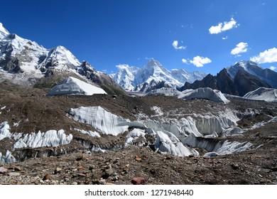 Baltoro Glacier along K2 concordia trekking , Skardu , Pakistan
