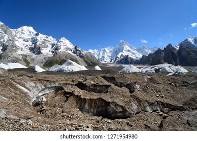 Baltoro Glacier along K2 concordia trekking , Pakistan