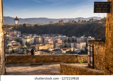 The Baluardi offer a panoramic view of the city in the historic center of Colle di Val d'Elsa, in the province of Siena