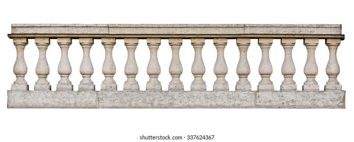 Balustrade (einzeln auf weißem Hintergrund)