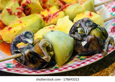 Balut/ Balot: Developing hen embryo that is boiled in the shell eaten mostly in the Philippines and Southeast Asian countries.