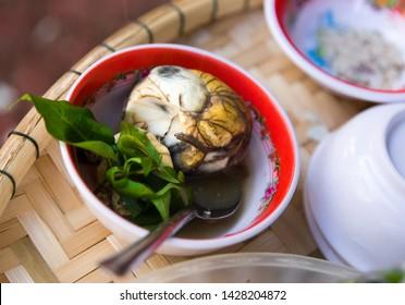 Balut egg served in Han market in Da Nang, Vietnam.