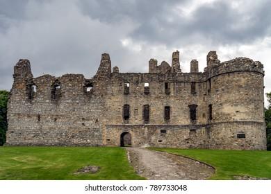 Balvenie castle at Glenfiddich near Dufftown in Scotland