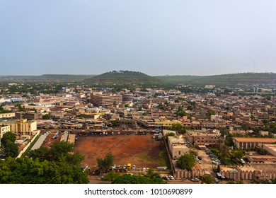 Bamako, Mali - 06 20 2017: Aerial View of Bamako, Capital of Mali
