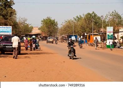 BAMAKO, MALI - CIRCA FEBRUARY 2012: Street scene in Bamako.