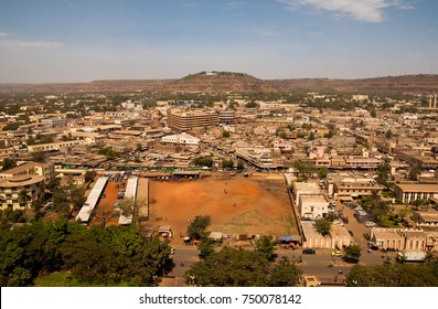 BAMAKO, MALI - CIRCA FEBRUARY 2012: View of the city from LAICO l'Amitie Hotel