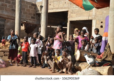 Bamako, Mali - January, 02, 2015: local people enjoy the show at the theater