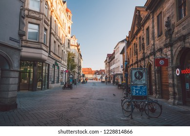 Bamberg, Bavaria / Germany - October 2018: Morning over the streets of Bamberg