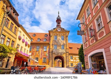 Bamberg, Bavaria, Germany, September 20 2019: Old town of Bamberg historic street and architecture view, Upper Franconia, Bavaria region of Germany