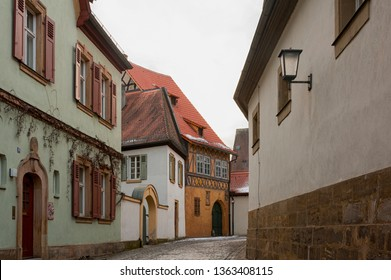 BAMBERG, GERMANY: MARCH 03, 2018: The historic old town of Bamberg with baroque architecture and iconic wood-