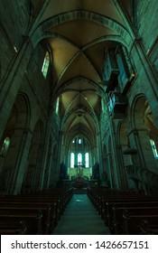 Bamberg, Germany - MAY 23 2019 :Interior of Bamberg Cathedral.