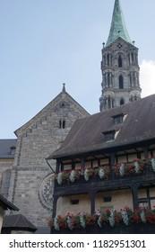 BAMBERG, GERMANY - SEP 11, 2016 - Baroque buildings in Bamberg, Germany
