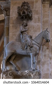 Bamberg horseman, sculpture at Bamberg Cathedral, Bamberg, Upper Franconia, Bavaria, Germany, Europe, 03. July 2015