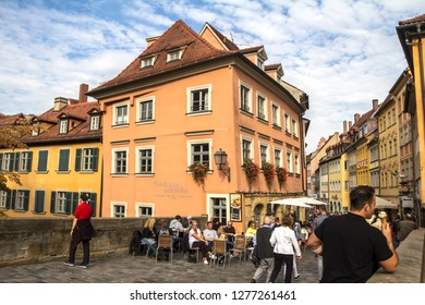 Bamberg, Oct 3, 2015: Historic architecture of Bamberg that wasn't affected by the World War II