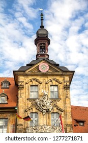 Bamberg, Oct 3, 2015:  view of Old Town Hall of Bamberg (Altes Rathaus) Bavaria, Germany
