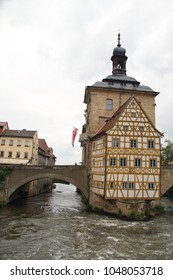 Bamberg - old and beautiful bavarian town in Upper Franconia, Germany, on the river Regnitz A large part of the town has been a UNESCO World Heritage Site since 1993.