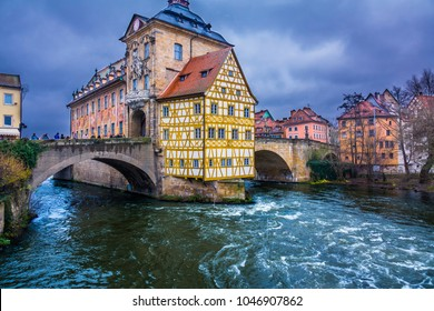 Bamberg Old Town Hall (Altes Rathaus) in autumn day