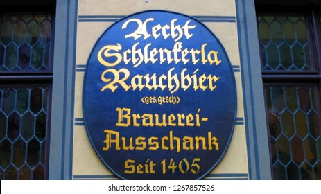 Bamberg/Germany- 2015: Schlenkerla Brewery in Bamberg