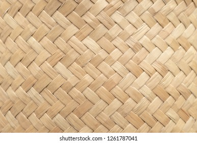 Bamboo basket texture for use as background . Woven basket pattern and texture. Close-up image.