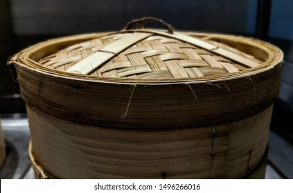 Bamboo Battered Chinese steamed. Background concept for dimsum and Chinese food