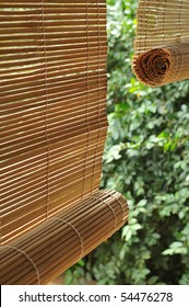 Bamboo blind.
