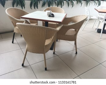 Bamboo chair and coffee table