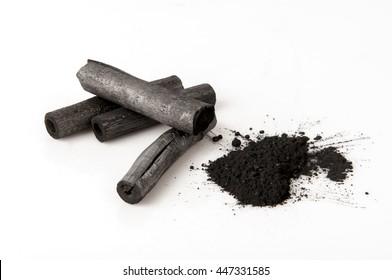 Bamboo charcoal burned and powder.