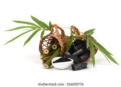 Bamboo and Bamboo charcoal powder