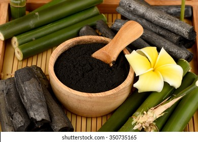 Bamboo and Bamboo charcoal powder.