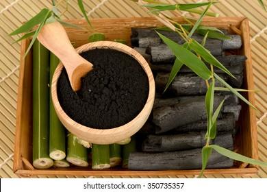 Bamboo and Bamboo charcoal powder.